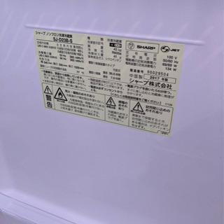 2ドア冷蔵庫  シャープ 2017年 225L 【3ヶ月保証★送料に設置込】 − 福岡県