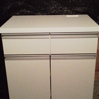 キッチンカウンター 60  収納 食器棚  日本製 スリム ホワ...