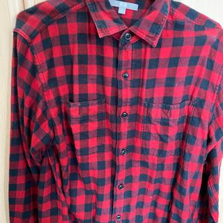 ユニクロ ネルシャツ チェックシャツ M レッド