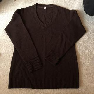 ユニクロ セーター 濃い茶色 レディース