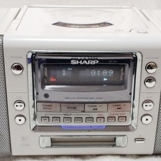 SHARP MD-F240-JB ホワイト MD/CDシステム(...
