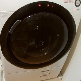 ドラム式洗濯乾燥機マンションサイズSHARP白少人数家族用
