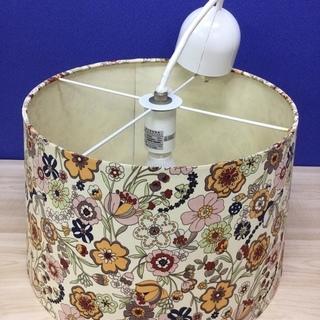 花柄シェードのペンダントライト 照明器具