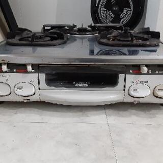 リンナイLPガス用ガステーブルRTS-4600-4AS-L取説付き