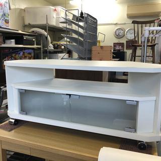 朝日木材 テレビボード ローボード ホワイト 幅79