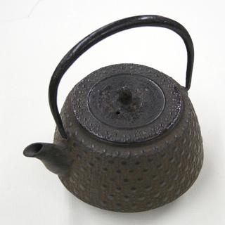南部鉄器 鉄瓶 小型 あられ模様 高さ7cm 直径10cm 北炭...