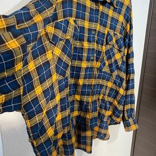 タータンチェックシャツ3L