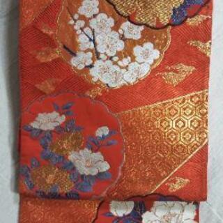 👘 正絹 フォーマル 袋帯 ★ 一回着用美品