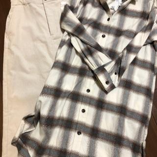 【新品】グローバルワーク スカート&チェックシャツ