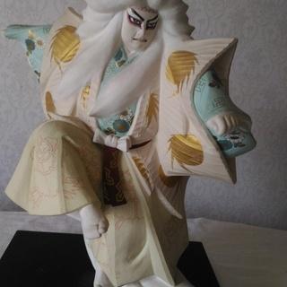 鏡獅子 【作家物 小島一義】 ケース付き 博多人形