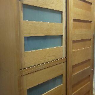 木製 日本製 食器棚  120センチ幅 可動棚あり
