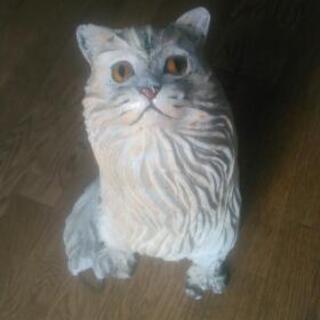 オブジェにネコの置物、ハンドメイド