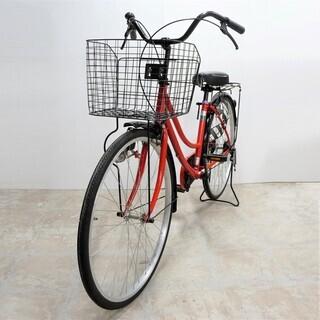 サギサカ 26インチ シティサイクル レッド 自転車