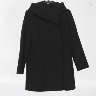アナイ ANAYI カシミヤ混 コート 黒 レディース サイズ36 S