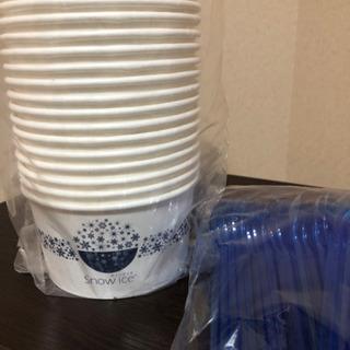 スノーアイスのカップとスプーン - 生活雑貨