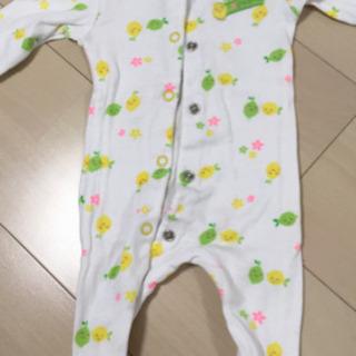新生児〜足付きロンパース レモン