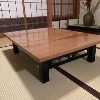 レトロ ローテーブル 座卓 茶色
