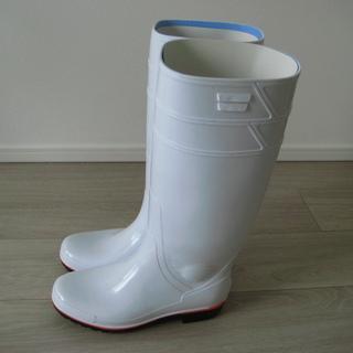 未使用白長靴 サイズ25.5センチ 日本製