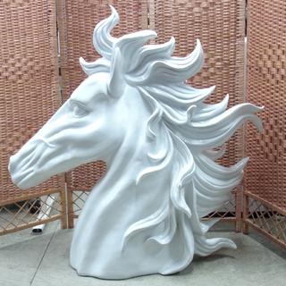 オブジェ 大迫力 馬 頭部 樹脂製 等身大 大型アニマル 動物...