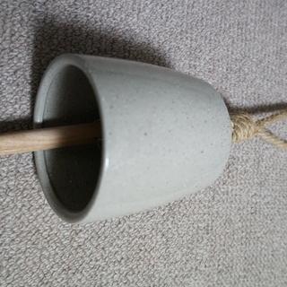 鐘(陶器)米国輸入品 (未使用)