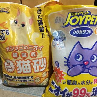 猫砂おから&シリカゲル