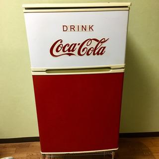 コカコーラ リメイク 冷蔵庫 2ドア 90L YRZ-C09B1