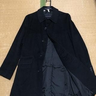 タケオキクチ TAKEO KIKUCHI カシミア混コート 黒 ...