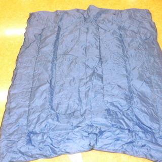 子ども用寝袋 青色2