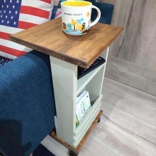 ヘンプベージュのカフェ風 サイドテーブル