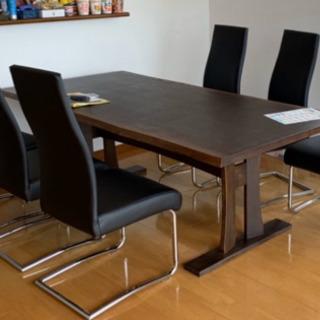 ダイニングテーブル、椅子6脚 美品