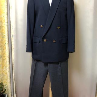 男児 スーツ上下 紺✖️グレー 29