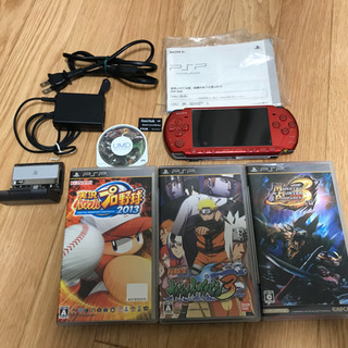 PSP3000+ソフト4点+ワンセグチューナー等