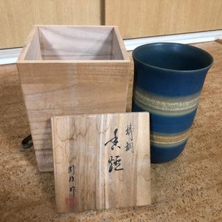 花瓶箱付き オマケ花瓶2点 三段重箱漆塗木製
