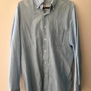 ブルー コットンシャツ ボタンダウンシャツ