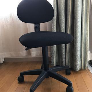 事務用/学習用 黒椅子360度回転、高さ調整可能