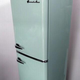レトロデザイン 冷蔵庫 高年式 2ドア ライトグリーン ペイペイ...