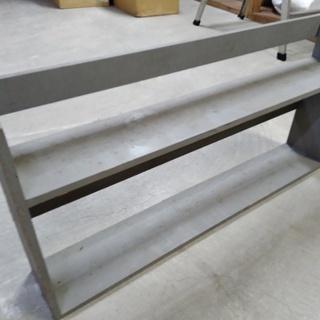 【あげます】木製の什器 棚として使えます 灰色