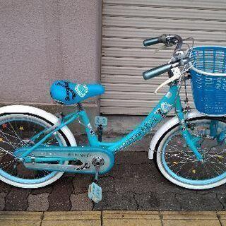 Picolina LOVE 20吋 少女向け自転車(ブルーxホワイト)