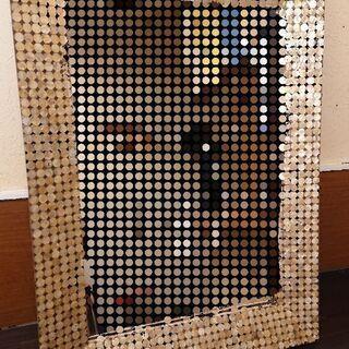フランフランの鏡(ゴールドシェル)値下げ