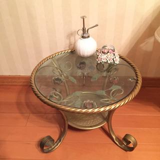 アンティーク薔薇アイアンテーブル