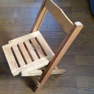 木製折り畳み椅子 3月までのお取引