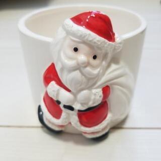 筆立て 小物入れ サンタクロース 陶器 鉢植えとしても使えると思います