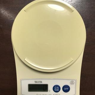 デジタルキッチンスケール タニタ 1g〜1kg 単4電池