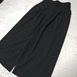 【6】美品r.p.s ワイドパンツ 黒 サイズM レディース
