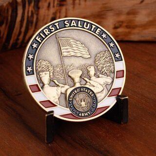 記念品】FIRST SALUTE アメリカ陸軍のチャレンジコイン