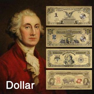 1899年のドル札 4枚!USA Dollar Bill 99....