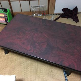 折り畳みちゃぶ台 横幅120×奥行74×高さ34cm