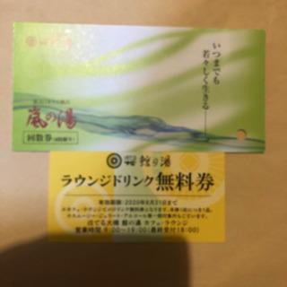 新潟 岩室温泉 嵐の湯入浴券+ソフトドリンク券