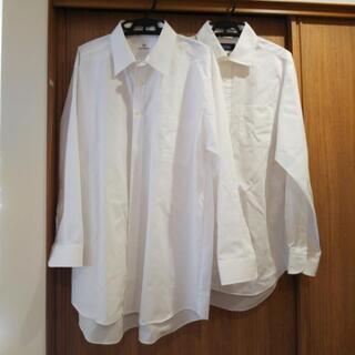 メンズ 喪服用 白シャツ2枚