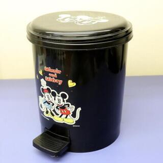 ミッキーマウス&ミニーマウス 足ふみ式ダストボックス ブラック ...